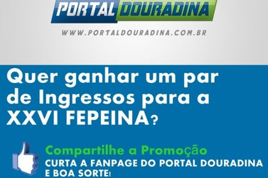 Promoção do Portal Douradina no facebook termina nesta quarta-feira