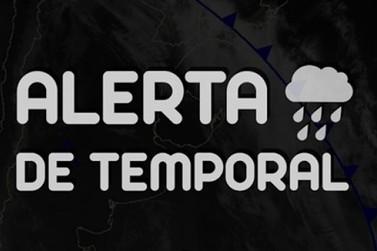 Simepar emite alerta de temporais para hoje em quase todo Paraná