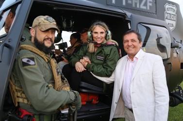 Governo reforça segurança da fronteira com novo helicóptero para Polícia Civil