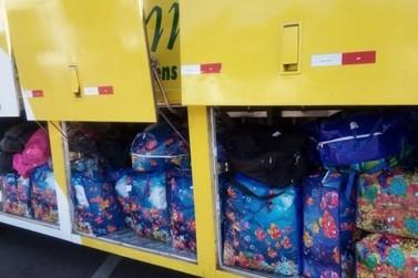Mais 17 ônibus são apreendidos em comboio na Operação Muralha