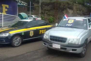 Polícia recupera caminhonete roubada em Cascavel na Ponte da Amizade