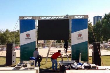 Telão será montado na Praça da Paz para transmissão dos jogos do Brasil