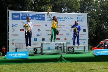 Ana Sátila subiu ao pódio nas três primeiras etapas da Copa do Mundo