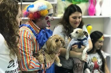 Projeto 'Missão Canina' fez a alegria das crianças no Hospital Municipal