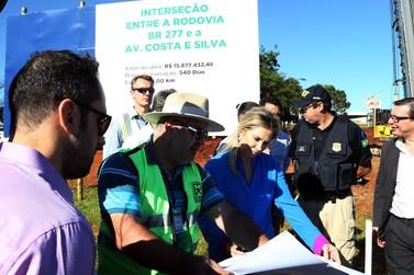Em Foz do Iguaçu, governadora vistoria obras de viaduto e da penitenciária