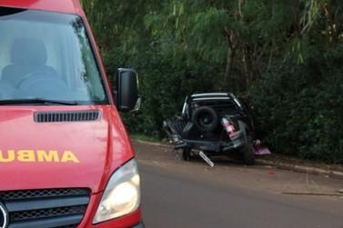 Funcionário público morre após colisão entre dois carros na Avenida Paraná