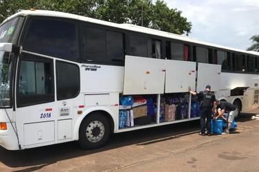 Ação na BR-277 retém quatro ônibus e três carros carregados com mercadorias