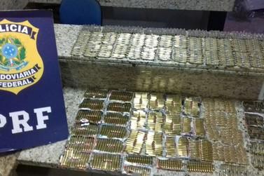 Idoso é preso pela PRF com mais de 2 mil munições em ônibus de viagem