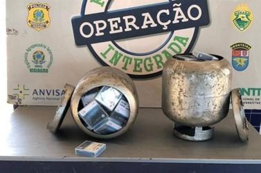 Operação apreende produtos eletrônicos dentro de botijões de gás na PIA