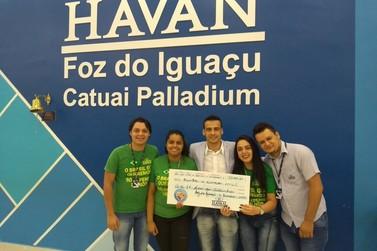 Lar dos Velhinhos recebe R$ 37 mil em doação da campanha Troco Solidário Havan