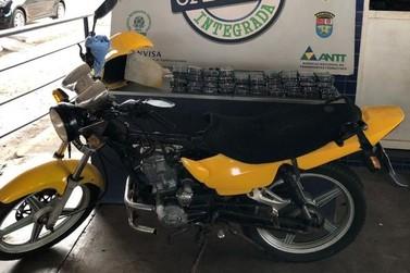 Receita Federal apreende moto com  R$ 35 mil em displays de smartphones
