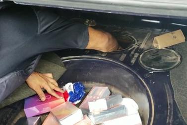 PRF encontra 54 celulares em fundo falso de tanque de combustível na BR-277