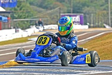 Firás Fahs considera bom o 1º dia de treinos do Campeonato Brasileiro de Kart