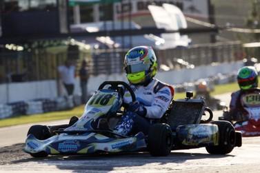 Júnior Flores disputa as duas fases do Campeonato Brasileiro de Kart