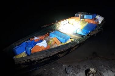 PF e Força Nacional apreendem mais de 500 kg de maconha na Ilha Acaray