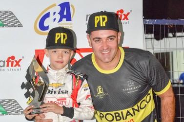 Piloto de Foz do Iguaçu fica no Top 5 da categoria Mirim do Open de Kart