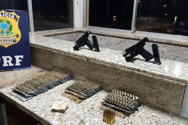 PRF apreende mais de mil munições de fuzil que iriam para o Rio de Janeiro