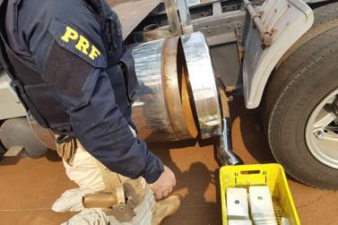 PRF apreende 89 quilos de cocaína dentro de tanque de combustível