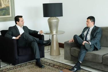 Ratinho Junior e Sergio Moro discutem reforço da segurança na fronteira