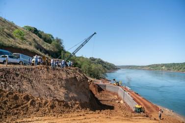 Obra da segunda ponte entre Brasil e Paraguai avança em Foz do Iguaçu