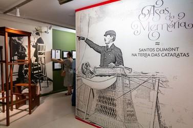 Exposição no Ecomuseu resgata passagem de Santos Dumont por Foz do Iguaçu