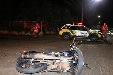 Motociclista morre e duas pessoas ficam feridas na Avenida República Argentina