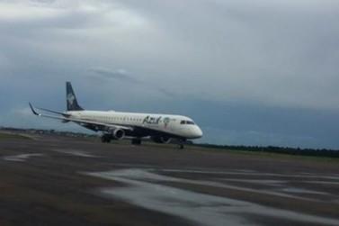 Avião da Azul que pousaria em Foz do Iguaçu precisou aterrissar em Cascavel