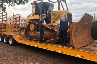 Comboio de maquinários para obras da Ponte da Integração chega ao Paraguai