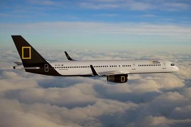 Raríssimo Boeing 757 modificado da NatGeo terá parada em Foz do Iguaçu