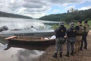 PF e Força Nacional apreendem embarcação carregada com celulares