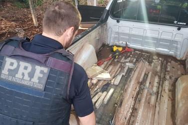 Polícia prende peruano com 75 quilos de maconha em caminhonete na BR-277