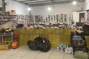 Fiscalização da Receita Federal encontra loja com calçados falsificados