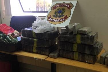 Polícia Federal prende em flagrante três pessoas por tráfico de drogas