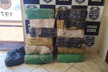 Polícia Civil apreende 227 quilos de maconha às margens do Rio Paraná