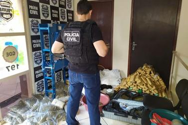 Polícia Civil fecha verdadeiro laboratório de drogas em Foz do Iguaçu