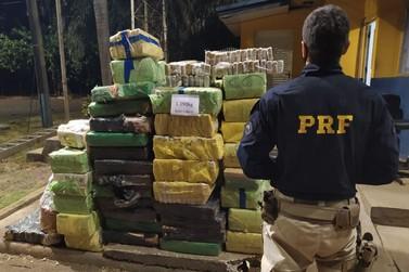 Em menos de 2 horas, PRF realiza três apreensões de maconha em Santa Terezinha