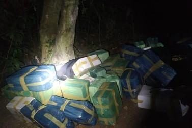 Policiais apreendem carga de vinho e roupas de contrabando da Argentina