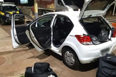 PRF apreende quase 55 kg de drogas em veículo em Santa Terezinha de Itaipu
