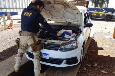 Veículo com 63 tabletes de maconha é apreendido pela Polícia Rodoviária Federal