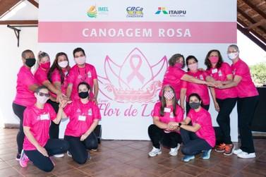Com remadoras rosa, Projeto Meninos do Lago amplia projeto de paracanoagem