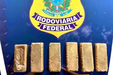 PRF apreende 6 quilos de ouro, avaliados em mais de 2 milhões de reais