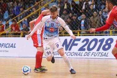 Rodrigo Trentin está perto de voltar a jogar pelo Foz Cataratas Futsal