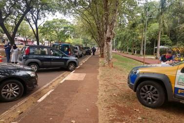 Foztrans fiscaliza veículos com placas estrangeiras e que estejam irregulares