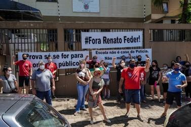 Protesto pede revogação de edital para seleção de professores temporários