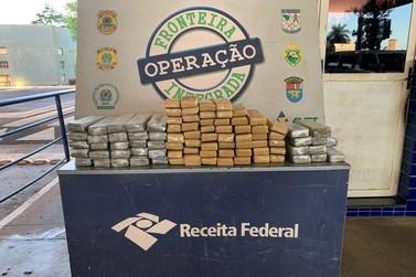 Receita Federal e Força Nacional apreendem 70 quilos de maconha na fronteira