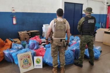 PF e BPFRON localizam em Foz do Iguaçu depósito de produtos contrabandeados