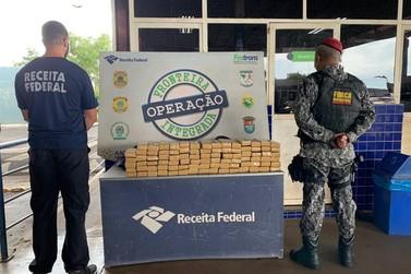 Receita Federal e Força Nacional apreendem 90 kg de maconha na Ponte da Amizade