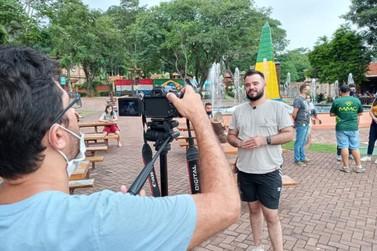 TV alemã Deutsche Welle grava sobre atrações turísticas de Foz do Iguaçu