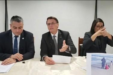 Bolsonaro volta a destacar a importância da Itaipu em sua live semanal