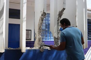 Começam as obras de reforma e ampliação da Escola Duque de Caxias, no Morumbi